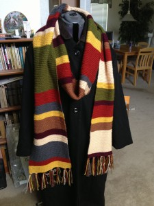 Doctor Who 4th Scarf - Black coat right side up