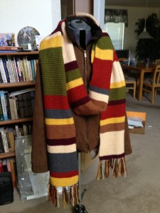 Doctor Who 4th Scarf - Bown coat right side up